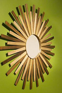 Such a cool idea. Decorative Mirrors with Paint stir sticks