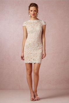short lace reception dress