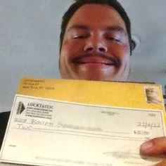 "Barrett M is a Lucktastic CASH winner!     ""This is a great game""    -Barrett M, Yuba City CA"