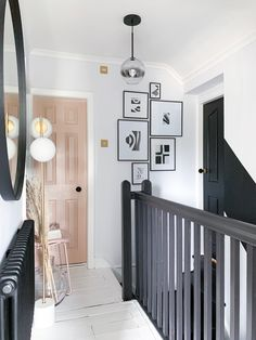 stairs Revamp Restyle Reveal – Monochrome Hallway Makeover 28 Photos Home diy – stairs Revamp Restyle Reveal – Monochrome Hallway Makeover White Hallway, Tiled Hallway, Upstairs Hallway, Modern Hallway, Hallway Walls, Long Hallway, Modern Staircase, Narrow Hallway Decorating, Hallway Ideas Entrance Narrow