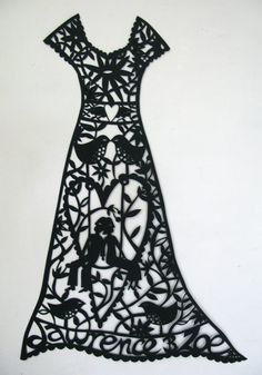Best dressed paper cut, the word silhouette is also a word to describe fashion. First paper cuts were used in the Tang Dynasty for Chinese embroidery patterns!