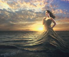 Get A woman wears the ocean as a dress. royalty-free stock image and other vectors, photos, and illustrations with your Storyblocksmembership. Photography Women, Fine Art Photography, Avatar Picture, Adobe, Creative Portraits, Photos Of Women, Fantasy World, Powerful Women, Female Art