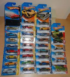 Hot Wheels Large Lot 32 DieCast Cars MOC 2007-2012 with Mystery Car