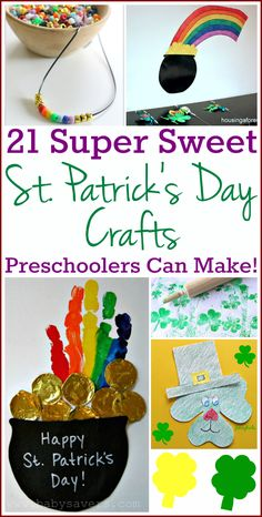 Our St. Patrick's Day crafts for preschoolers, toddlers and babies encourage creativity, sensory play, fine motor skill development and simple FUN for kids!