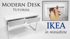 Miniature IKEA Desk Tutorial (Micke Desk)