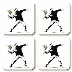 Banksy Coaster Set
