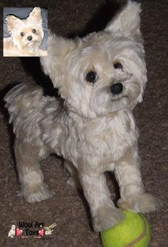 Custom Yorkshire Terrier Artist Needle Felted Dog by WoolArtToys