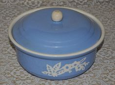 Harker Cameo ware Cassarole Bowl with lid ~ Vintage