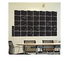 Adesivo da parete Chalkboard Month Planner - 100x57 cm