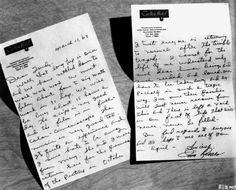 Ironic letter from Jim Reeves (who died in 1964 in a plane accident.)