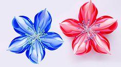 Делаем необычный цветок их атласных лент. Цветок может быть украшением для волос или брошью. Подписывайтесь на мой канал, чтобы не пропустить новые видео. И ...