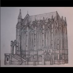 #realistic #architecture #art #drawing #church #chapel