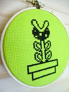 Piranha Plant - Cross Stitch Pattern. $3.00, via Etsy.