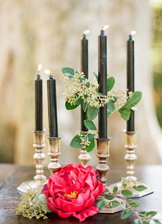 black candle sticks