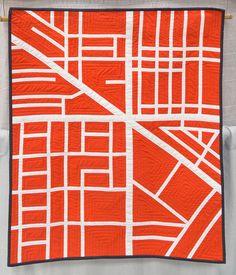 Crossroads quilt by Jennifer Benoit-Bryan, 2014 | The Modern Quilt Guild
