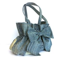 Recycled bow purse by Sisoibags, $60.00