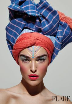 The Wrapture - June 2013 / Styling: Corey Ng / Photography: Michael Williams / Editor: Carlene Higgins Model Sara-Lynn in the stylist's own turban. Hair and makeup by Tony Masciangelo.