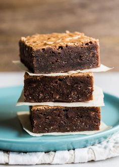 Fudgy Chocolate Brownies! Made with melted chocolate, butter, sugar, eggs, flour, and chocolate chips. Perfect for picnics, potlucks, or mailing to a friend.