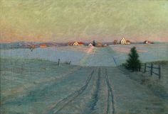 'Late Winter Afternoon', by Birge Harrison.  (1854-1929)