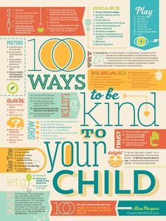 New 100 Ways to Be Kind Poster from Creativewithkids.com