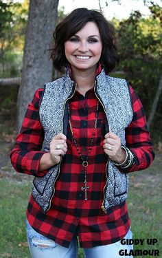 Afternoon Together Vest in Black and White Tweed www.gugonline.com $48.95