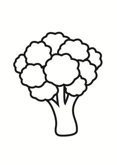 Vegetable Coloring Pages, Fruit Coloring Pages, Colouring Pages, Coloring Pages For Kids, Coloring Books, Broccoli Drawing, Basic Drawing For Kids, Coloring Pictures For Kids, Drawing Projects