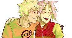 NaruSaku . Happy by starchiishio on deviantART