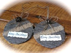 Christmas Rustic  gift tags   set of 4 by Mydaisy2000 on Etsy, $12.00