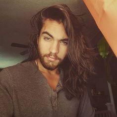 Pinterest || @michaelbungard Long Hair With Bangs, Haircuts For Long Hair, Very Long Hair, Braids For Long Hair, Curled Hairstyles, Haircuts For Men, Cool Hairstyles, Men's Haircuts, Haircut Tip