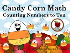 Numbers and Counting (math center, file folder game, autumn, Halloween, candy) from Cealeigh from Cealeigh on TeachersNotebook.com (32 pages)  - Young children need to practice counting their numbers all year long, so they can commit the numbers to long term memory. However, the children need to practice their numbers in a variety of ways in order to prevent boredom. This autumn and candy corn the