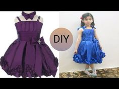 Beautiful kids designer frock cutting and stitching full tutorial Baby Frock Pattern, Frock Patterns, Baby Girl Dress Patterns, Little Girl Pageant Dresses, Girls Dresses Sewing, Dresses Kids Girl, Girls Frock Design, Baby Dress Design, Baby Girl Frocks