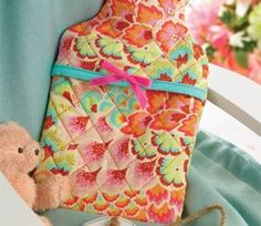 Hot Water Bottle Cover Quilting Project via Crafts Beautiful   #DIY #crafts #quilting