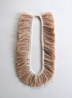 Full Fringe Necklace Nude by karibreitigam on Etsy