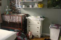 16 simple nursery ideas for a tiny house : TreeHugger **Install a diaper shelf on the wall
