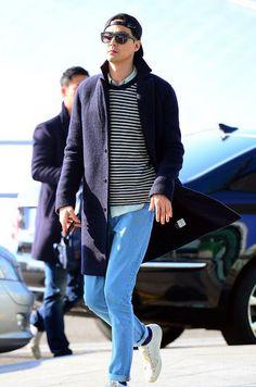 jo in sung - airport fashion / street chic Korean Actresses, Korean Actors, Work Casual, Casual Looks, It's Okay That's Love, Korea University, Jo In Sung, Airport Style, Airport Fashion