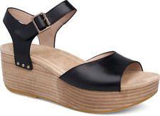 55eeeafd4f0d Dansko Women s Silvie 1221-020300 Black Burnished Comfortable Sandals
