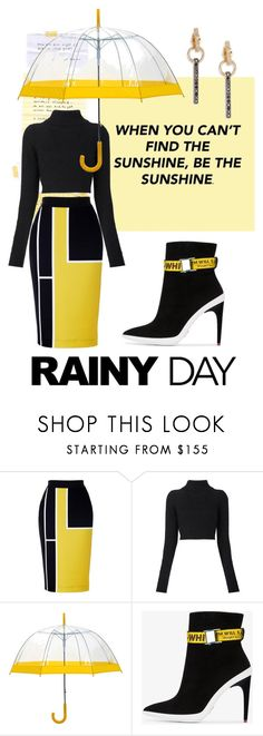 """""when you can't find the sunshine, be the sunshine"""" by tropichild ❤ liked on Polyvore featuring Balmain, Off-White and EF Collection"