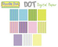 FREE This product has a resell license for created products and may not be sold separately. This is a bundle consisting of 11 pastel dot patterns.  Thes...