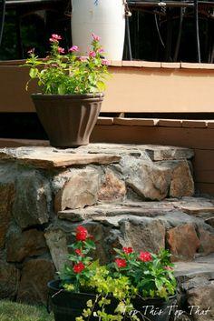 Easy & Gorgeous {DIY} Stone Steps!
