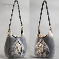 "Items similar to Eco Natural Wool Boho Chic ExclusiveAuthor's Felted Bag ""Gray agate"" Boho Ethno Luxury Handbag on Etsy Felt Clutch, Clutch Bag, Bohemian Wedding Reception, Felt Fairy, Boho Bags, Vacation Style, Luxury Handbags, Boho Fashion, Boho Chic"
