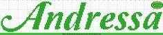 Gráficos de Nomes em Ponto Cruz: Nome Andressa em Ponto Cruz