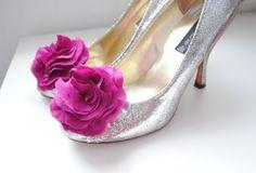 B Poetic Shoe Clips in Fuchsia by bpoetic on Etsy, $35.00