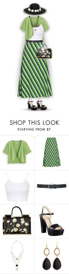 """""""V4B #547"""" by valforeverblue ❤ liked on Polyvore featuring Blair, House of Holland, Topshop, M&Co, Dolce&Gabbana, Nine West, Maison Margiela and Panacea"""