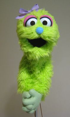 Professional Muppet Style Puppet Green Girl by MarksCreatureShop, $148.00
