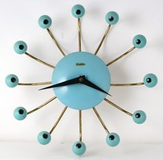 1950s Clock #vintage by Thoughts design