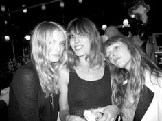 Lily Donaldson, Lou Doillon and Josephine de la Baume by courtesy of Purple Fashion Magazine (2009)