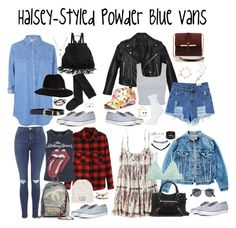 """""""Halsey-Styled Powder Blue Vans"""" by halseys-clothes ❤ liked on Polyvore featuring Kenneth Cole, Topshop, Anine Bing, B-Low the Belt, H&M, Forever 21, Robert Lee Morris, Nasty Gal, Miss Selfridge and maurices"""