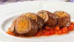 Bife de Coxão Mole Friboi Recheado de Farofa e Legumes