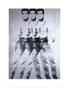 """""""Triple Elvis"""" c.1963  Andy Warhol (1923–1987), one of the 20th century's most creative, prolific and influential artists, defined a decade and a culture with his groundbreaking Pop Art. Initially a popular Manhattan commercial artist, Warhol achieved fame with his multiple images of soup cans, soda bottles, dollar bills and celebrities, which revealed the beauty within mass culture. Innovator of silkscreening, Warhol's talents also encompassed filmmaking, music production, and more."""
