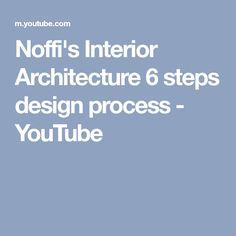 Noffi's Interior Architecture 6 steps design process - YouTube Steps Design, Design Process, Interior Architecture, Youtube, Interior Design, Youtubers, Youtube Movies